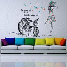 Vinilos Silueta Mujer Better Days  #decoracion #interiorismo #vinilos #casa #hogar #vinilosdecorativos: