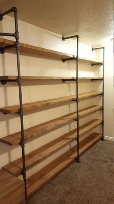 Large Customized Pipe Shelving Wall Unit / Pipe Book Case / | Etsy