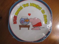 "Ziggy Tom Wilson Porcelain Plate ""Love Makes the Lonelies Go Away"" New in Packag 