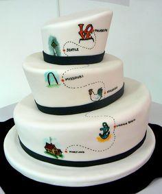 NightKitchenBakery.com interesting wedding cake!