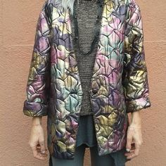 #vintage #jacket #oneofakind #metalliccolours #secondhandjunkie
