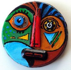 """""""Found Faces"""" Great recycled art idea!"""