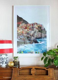 Hi Sugarplum | Cool Tip - Ikea Ribba Hack!  Oversize Framed Art with Custom Mat