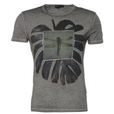 T-Shirt mit Effektdruck - Stylisches dunkelgrünes T-Shirt von Antony Morato. Das Shirt mit Effektdruck ist ein richtiger Eyecatcher. - ab 22,95 €