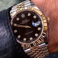 Rolex Watches Collection : Rolex Date Just 41 by Juampi Rolex Watches For Men, Vintage Watches For Men, Luxury Watches For Men, Vintage Men, Patek Philippe, Rolex Boutique, Audemars Piguet, Mens Designer Watches, Rolex Day Date
