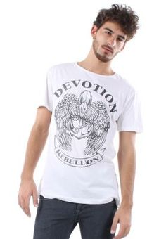 For a casual look pair this white Devotion t-shirt from 16DS with a pair of skinny jeans and sneakers. Alternatively for an edgy look pair this Conquer t-shirt with jeans, biker jacket and boots.  | facebook.com/ZaloraSingapore  #mens #fashion #tshirts