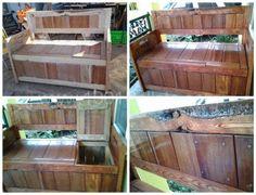 DIY: Pallet Storage Bench