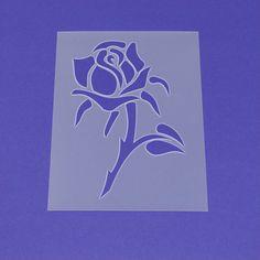 Schablone Blume Rose - MF23 von Lunatik-Style via dawanda.com
