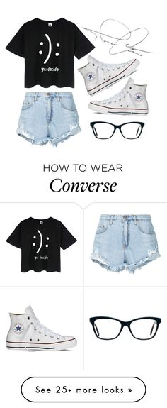 """You decide"" by jasminefriesen03 on Polyvore featuring Converse and Nobody Denim"