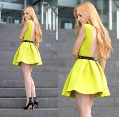 love this citron yellow dress