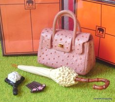 Re-ment / Rement : Japanese Dollhouse Toys : Department Shopping / Department Store #4F : Miniature Fashion Handbag / Umbrella / Parasol / Mirror / Hair Accessory