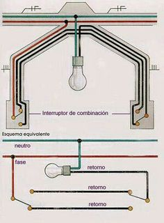 How to make Two Switches in the Room Light, Switch, circuit Residential Electrical, Home Electrical Wiring, Electrical Projects, Electrical Installation, Electrical Engineering, Diy Electronics, Electronics Projects, Electrical Circuit Diagram, House Wiring
