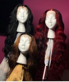 Full Lace Wig Red/Black Body Wave Human Hair Brazilian Ombr… – Hair World Baddie Hairstyles, Weave Hairstyles, Doll Hairstyles, Black Hairstyles, Hairdos, Lace Front Wigs, Lace Wigs, Remy Wigs, Brazilian Hair Wigs
