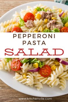 Pepperoni Pasta Salad Recipe. Simple Pepperoni salad for the whole family. Make it in a few minutes. salad recipe pasta/ summer salad recipes/ pastas salad/ vegetable salad recipe