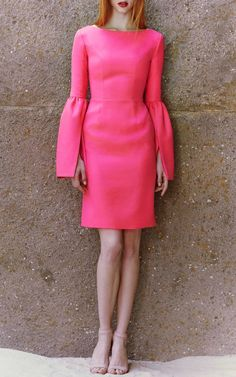 Bell Sleeve Fitted Dress by Honor for Preorder on Moda Operandi