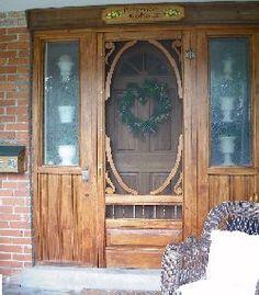 Rustic wood screen door & Western Maine Screen Doors Co. - 207-249-1687 - Custom Maine Built ...