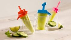 lime cucumber popsicles - summer dessert treat
