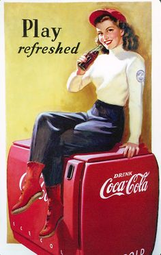 Coca Cola ads of Stunning Working class ladies from the 1889 till present days.