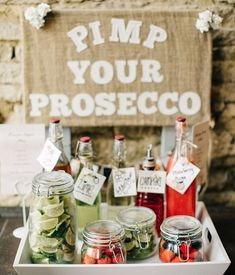 PIMP YOUR PROSECCO. Whether summer garden party or wedding, this is a perfect idea for refreshments! garden wedding decor A Naomi Neoh Gown for a Romantic, Handmade and Rural Cripps Barn Wedding Wedding Blog, Wedding Day, Budget Wedding, Wedding Ceremony, Gown Wedding, Rustic Wedding, Wedding Trends, Wedding Cakes, Garden Party Wedding