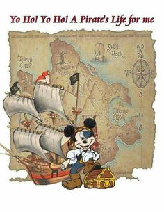Pirates of Carribbean Night > Disney Magic Cruise Mickey Mouse E Amigos, Mickey Mouse And Friends, Mickey Minnie Mouse, Disney Dream, Disney Trips, Disney Love, Disney Stuff, Disney Magic Cruise, Disney Cruise Line