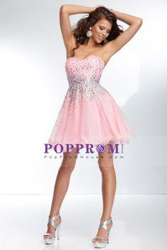 2014 hot selling short/mini sweetheart A-line beaded bodice chiffon low back skirt