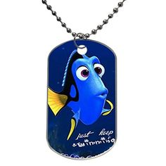 Dog Tag Oval Aluminum Finding Nemo Squirt Dory Crush Cartoon Sea Turtle OKking DIY ID Tag Dog Tag Pet Tag ID Necklace Pendant 133 x 22 X 0377 inches -- You can get additional details at the image link.