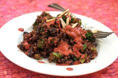 Black Beans & Quinoa with Chipotle Raspberry Sauce
