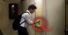 He puts bananas on this door everyday