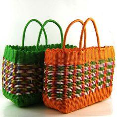 Cheap B0233 tejida cesta de plástico, Compro Calidad Almacenamiento y Organización directamente de los surtidores de China:  Tejida cesta de plástico