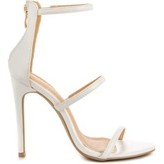 Liliana Women's Selfless - White ($48) ❤ liked on Polyvore featuring shoes, heels, white, stilettos shoes, sexy stilettos, white high heel shoes, white heel shoes and white shoes