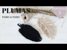 COMO HACER PLUMAS MACRAMÉ |MACRAME FEATHERS DIY - YouTube Macrame Knots, Macrame Bracelets, Magic Knot, Youtube How To Make, Sewing Projects, Projects To Try, Crafts For Kids, Diy Crafts, Driftwood Crafts