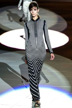 chevron at Marc Jacobs #LFW #SS2013 #trends #blackandwhite