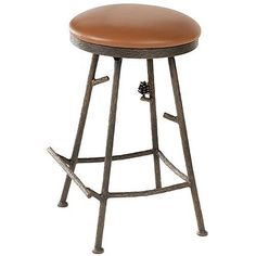 Stone County Ironworks 25 in. Pine Backless Barstool