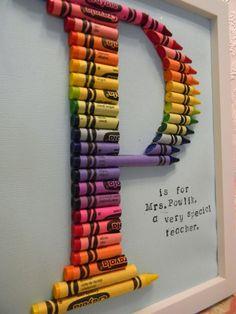 DIY 2 - Crayon Letter
