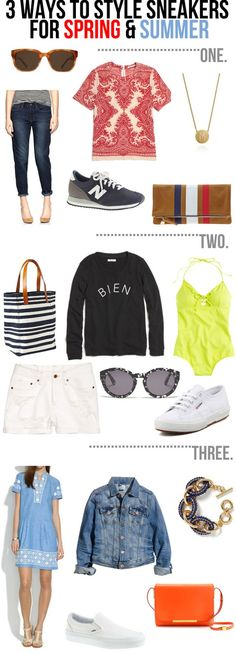 3 ways to style sneakers this spring & summer!