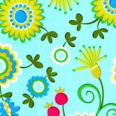 Dancing Flowers Aqua