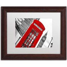 Trademark Fine Art London Canvas Art by Philippe Hugonnard, White Matte, Wood Frame, Size: 11 x 14, Red
