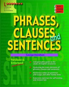 E-Books for Learners & Teachers of English: Sentence structure