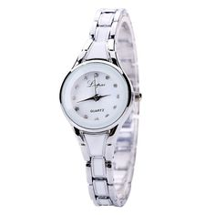 Lvpai Luxury Crystal Bracelet Gemstone Dress Watch