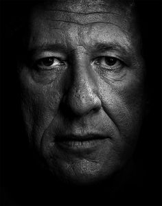 Portrait of Geoffrey Rush by Isamu Sawa. I can't get enough of these kinds of black and white. There's something so beautiful about the imperfections