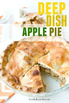 Crafting the Perfect Deep Dish Apple Pie Recipe - Plus a video of the best Apple Pie Tools! | www.foodfolksandfun.net | #EverythingButTheTurkey #Thanksgiving
