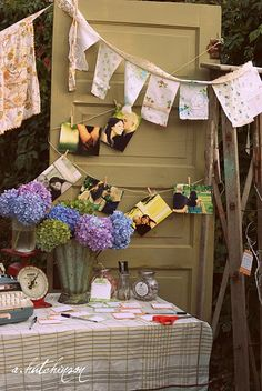 Vintage Kitchen Bridal Shower-this is fabulous!!