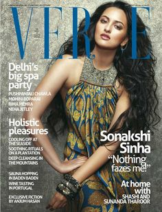 Sonakshi Sinha on The Cover of Verve Magazine India July 2012. | Bollywood Cleavage