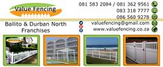 Contact Details for Value Fencing PVC Durban North to Ballito. Calcium Carbonate, Fencing, South Africa, Group, Fences