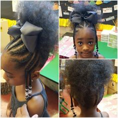 Braids for kids is one of the most simple yet effective hairstyles you can administer for African American children. See more about braids for kids. Lil Girl Hairstyles, Black Kids Hairstyles, Natural Hairstyles For Kids, Kids Braided Hairstyles, African Braids Hairstyles, Natural Hair Styles, Teenage Hairstyles, American Hairstyles, Braided Updo