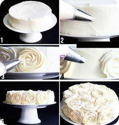 украшаем торт кремом