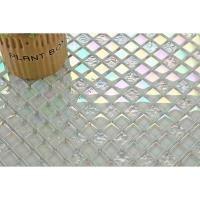 CARRELAGE - PAREMENT Carrelage mosaïque en verre. perle blanc irisé cha