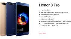 Honor 8 Pron tiedot paljastuivat venäläisilta virallisilta sivuilta (käännetty Googlella englanniksi).