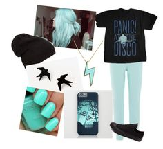 """""""black and blue"""" by hannahchristmann ❤ liked on Polyvore featuring Piazza Sempione, Marc by Marc Jacobs and Converse"""