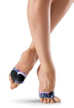 CAPEZIO FOOT UNDEEZ DANCE MODERN LYRICAL H07S Black Zebra Print FootUndeez